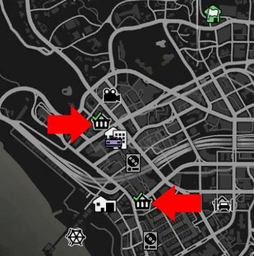 GTA Online Läden Ausrauben Map