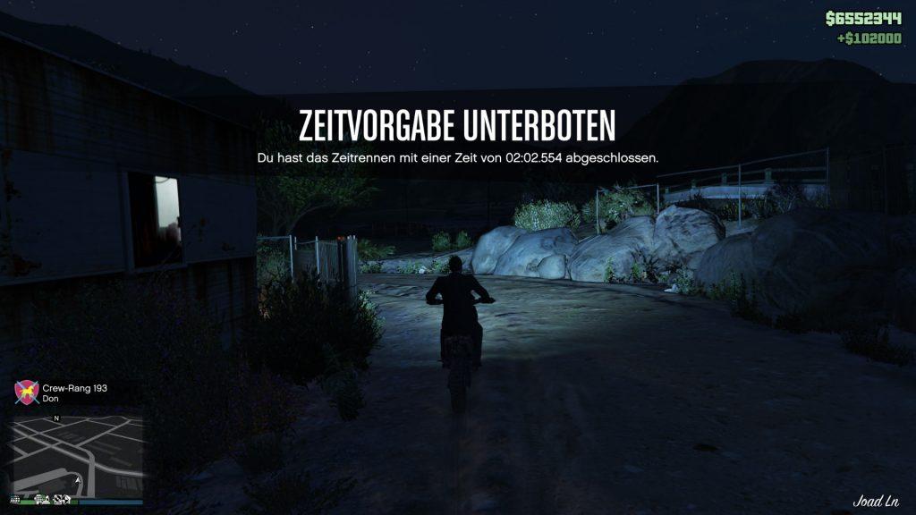 GTA Online Observatorium Zeitrennen Ziel