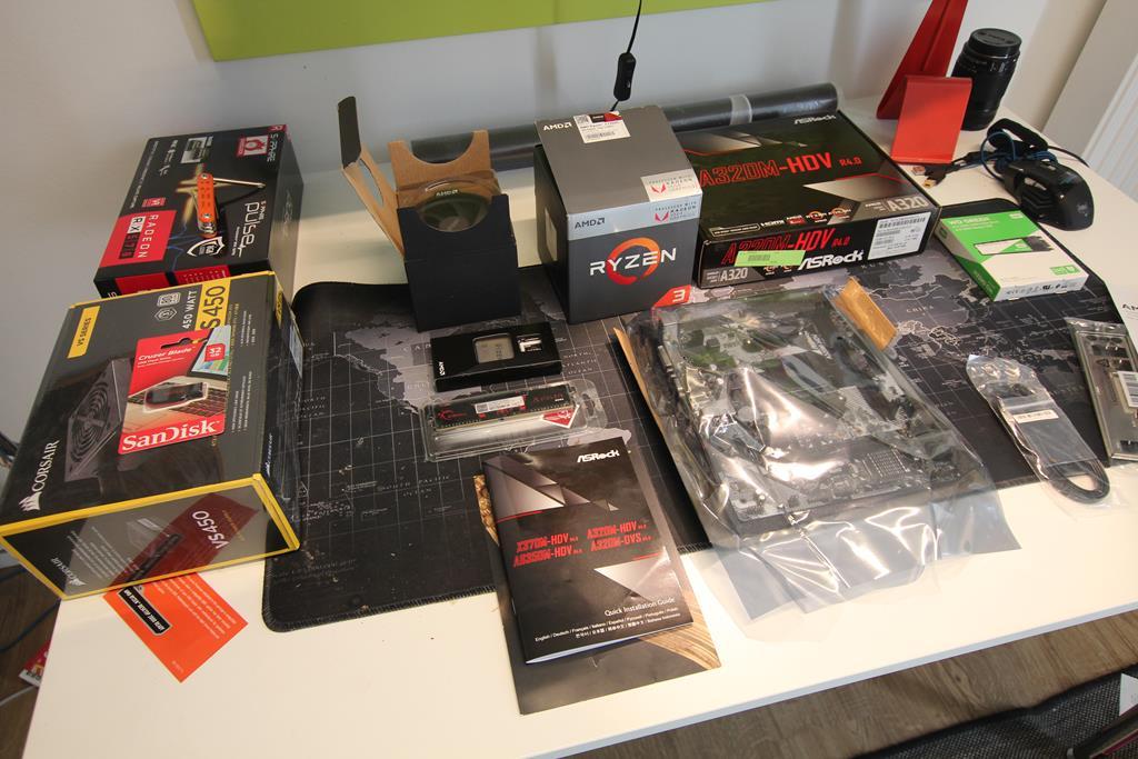 Bauteile für einen PC