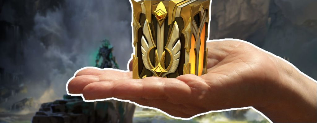 Legends of Runeterra Championkapsel auf Hand Titel