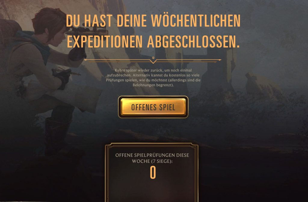 Legends of Runeterra Expedition offenes Spiel