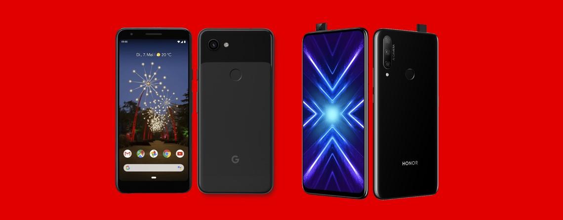 Google Pixel 3a, Honor 9X und mehr reduziert im Angebot bei MediaMarkt
