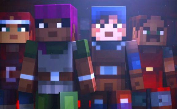 Minecraft Dungeons titel