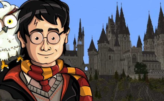 Minecraft Harry Potter title 1140x445