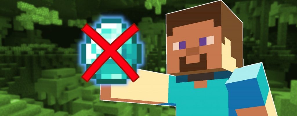 Minecraft No Diamond title 1140x445