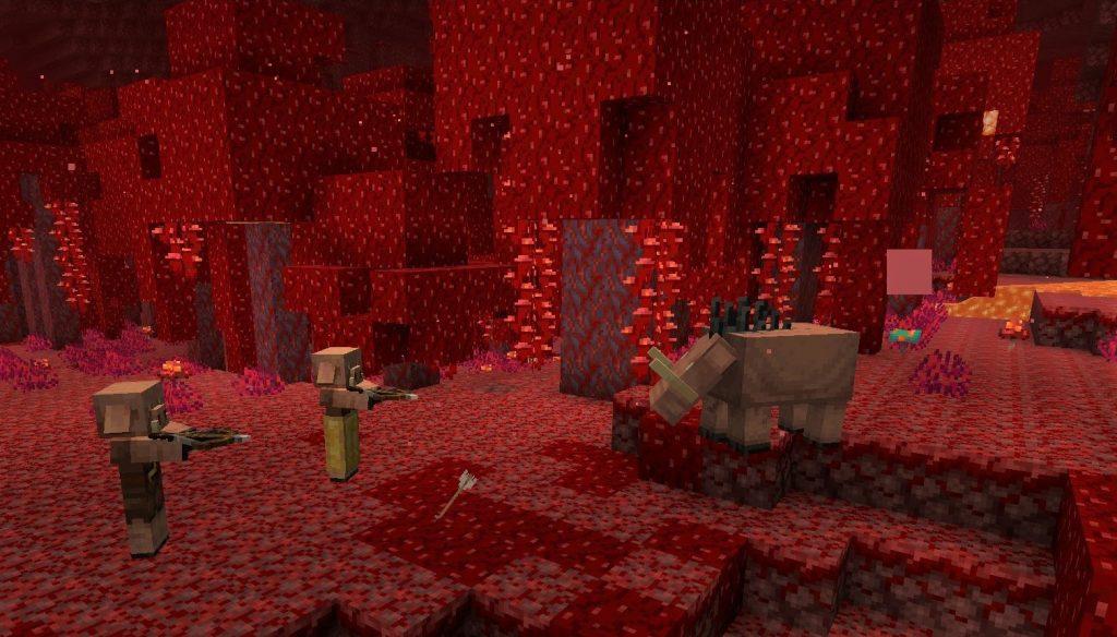 Minecraft Piglin Hunting Hoglin