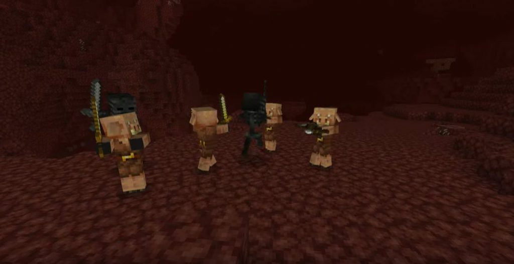 Minecraft Piglin Wither Skeletons