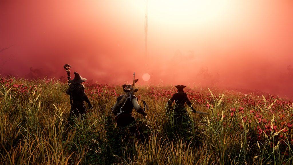 New World - eine Gruppe Spieler