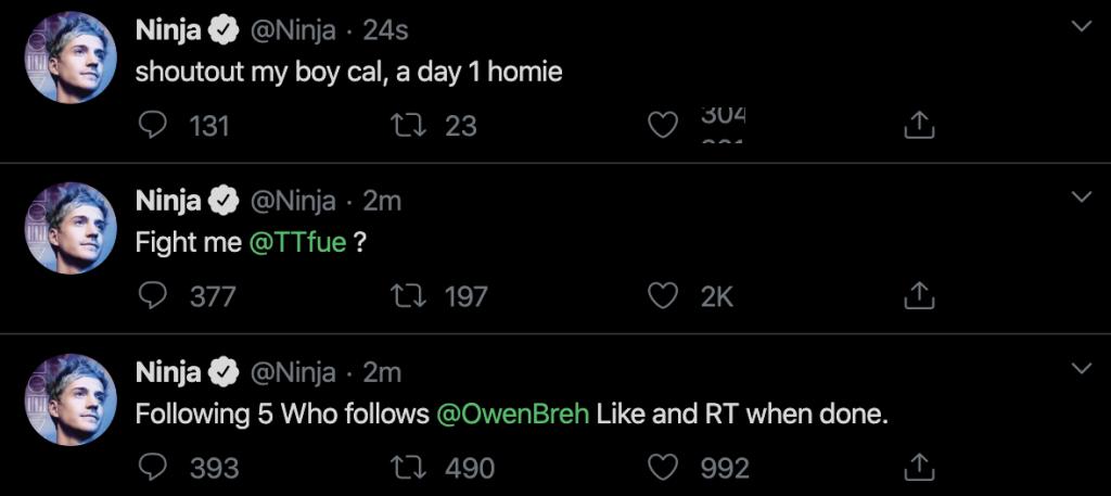 Ninja Tweets