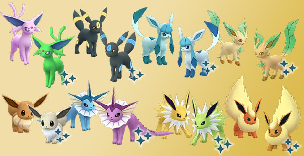 Pokémon GO Evoli Shiny Familie neu