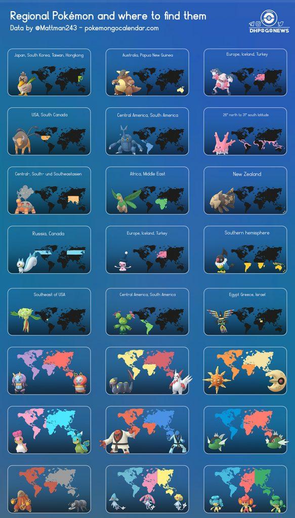 Pokémon GO Regional Map Info Übersicht
