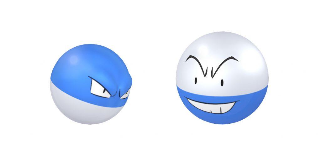 Pokémon Go shiny voltobal und lektobal