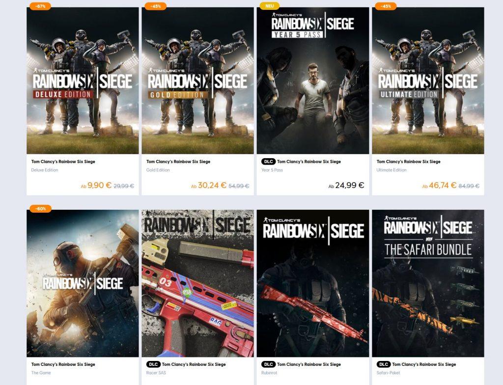Rainbow Six Siege Angebote