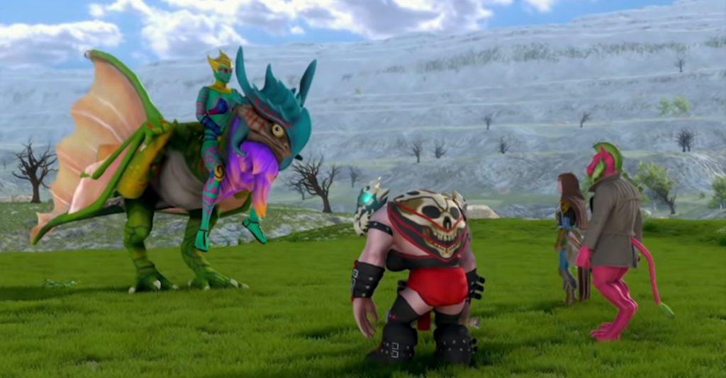 Screenshot des fiktiven Spiels Kingdom Scrolls aus Dead Pixels