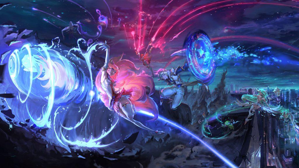 Artwork zu den Galaxien in TFT
