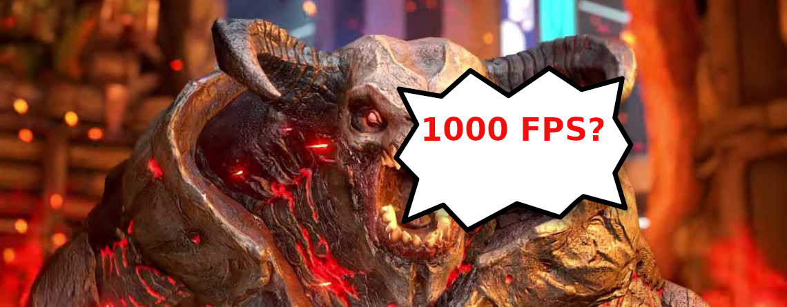 Das neue Doom Eternal schafft1000 FPS– Wenn du die Hardware hast