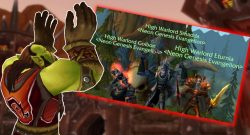 WoW Orc Kneel triple warlord title 1140x445