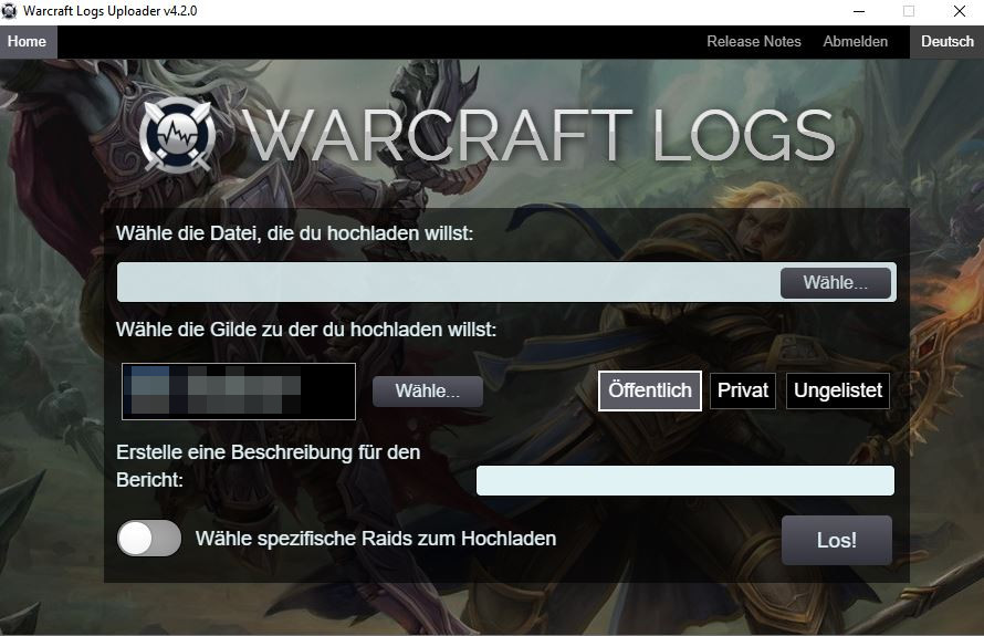 World of Warcraft Analyzer warcraftlogs uploader 2