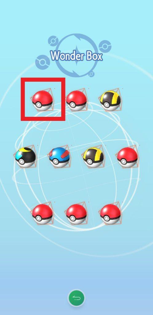 Pokeball auswählen
