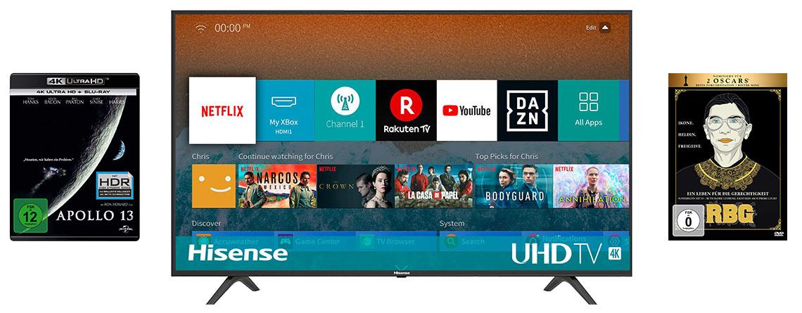Preis-Leistungs-König im Angebot bei Amazon: Hisense 4K TV für 339 Euro