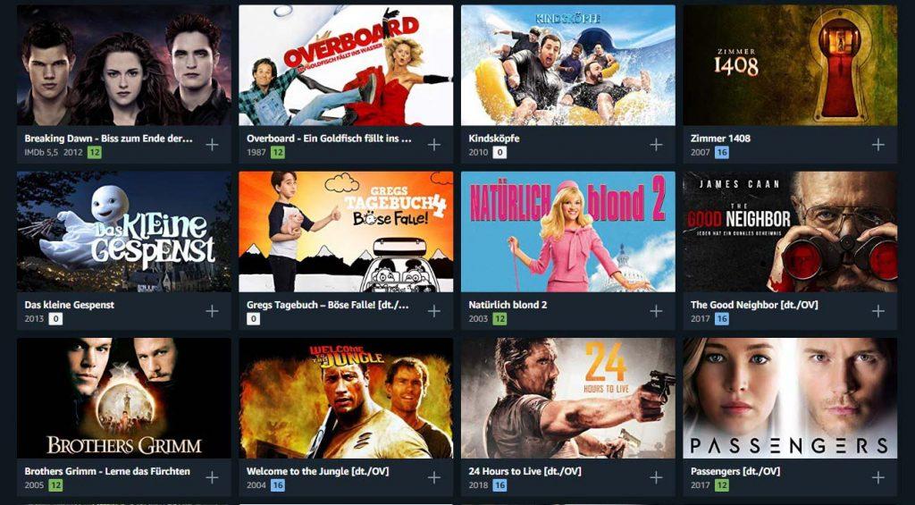 Amazon Prime Video Filme ausleihen.