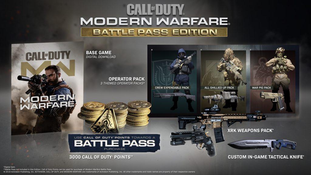 cod modern warfare 100 dollar battle pass bundle