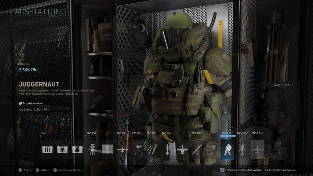 cod modern warfare spec ops ausstattung