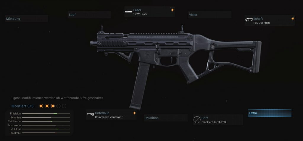 cod modern warfare waffen setups striker 45 start