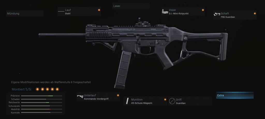 cod modern warfare waffen setups striker 45 sturmgewehr hybrid