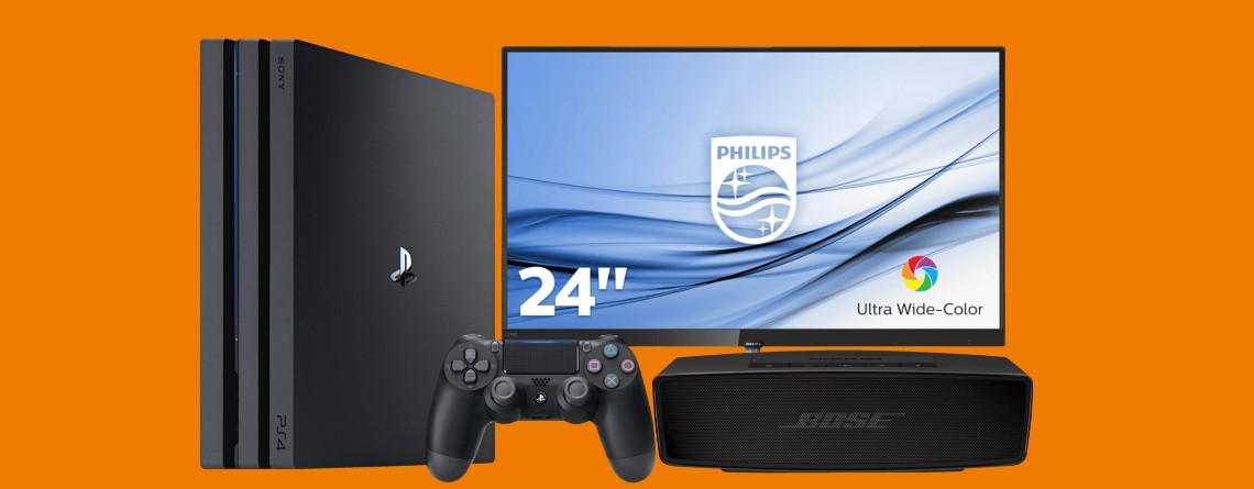 PS4 Pro für nur 249 Euro, PC-Monitor für 99 Euro und mehr bei Saturn