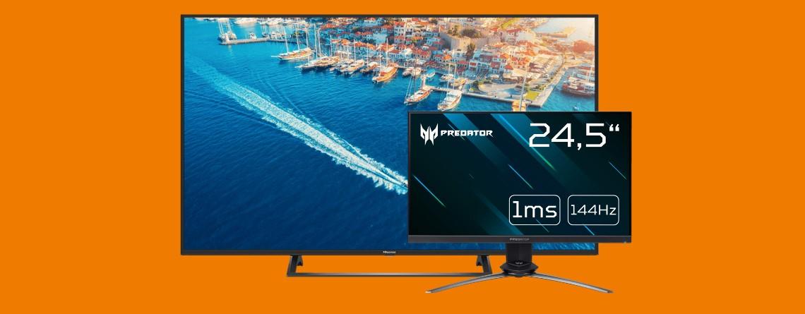 4K-Fernseher für 333 Euro, Gaming-Monitor reduziert und mehr bei Saturn