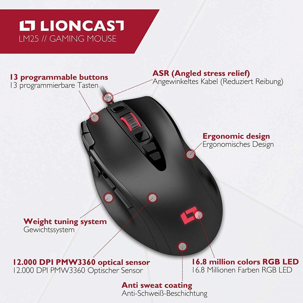 Lioncast LM25 Feature-Übersicht