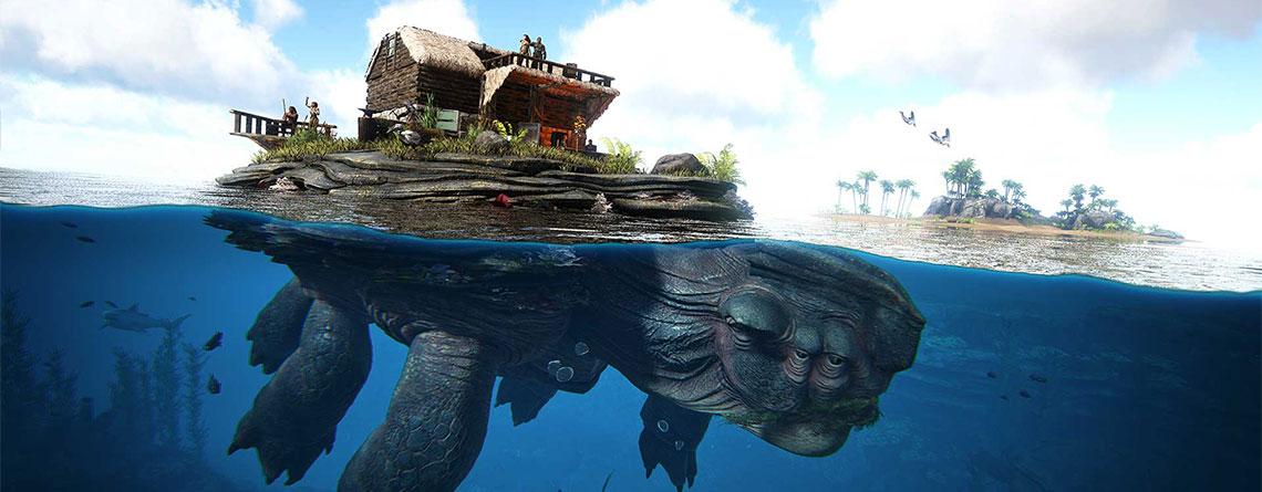 ARK Genesis: So zähmt ihr die Riesen-Schildkröte Megachelon