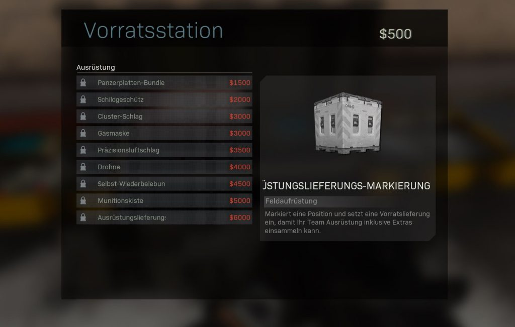 Call fo Duty Modern Warfare Vorratsstation
