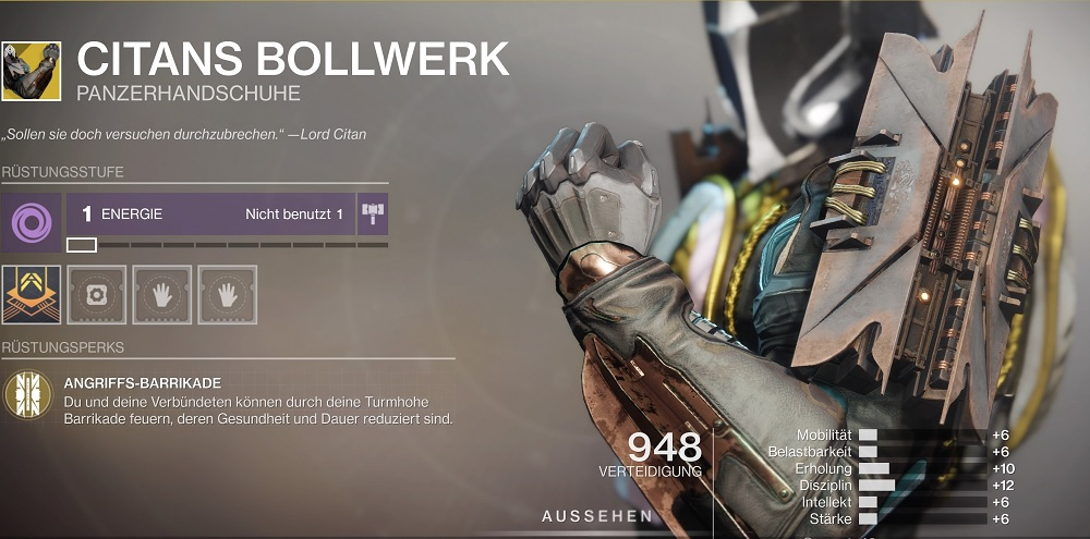 Citans Bollwerk Exotic season 10 Destiny