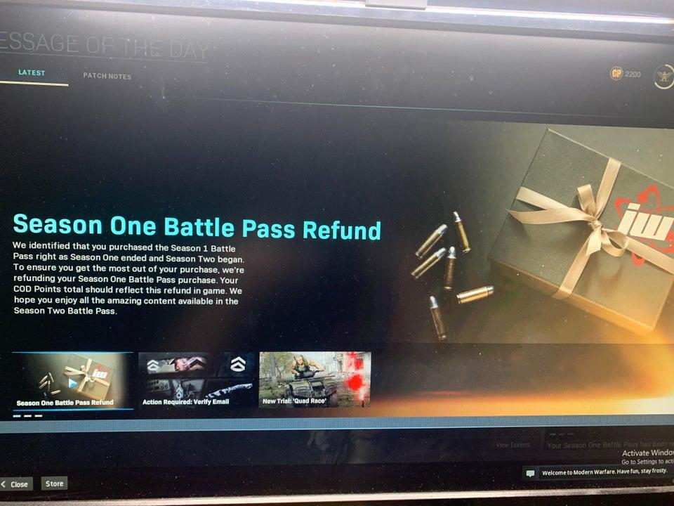 Battle Pass Rückerstattung