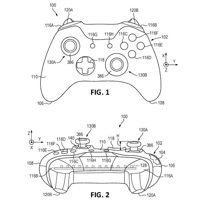 Xbox One Controller Patent Schema