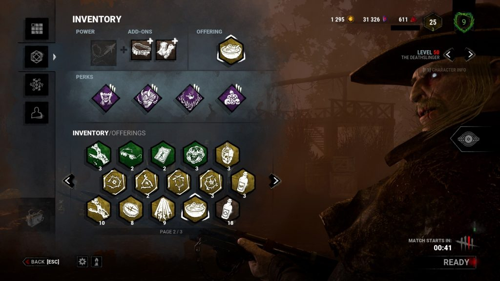 Dead by Daylight Inventory Deathslinger