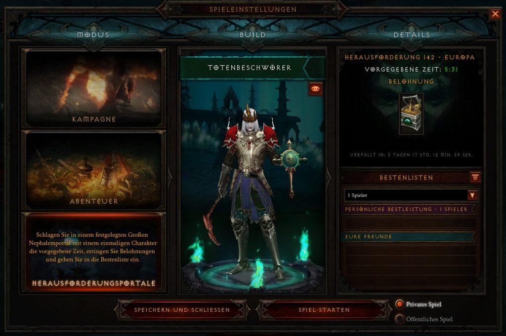 Diablo 3 Herausforderungsportal S20