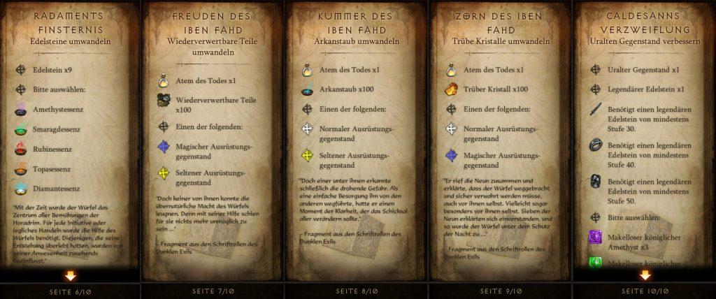 Diablo 3 Kanais Würfel Rezepte 2 von 2