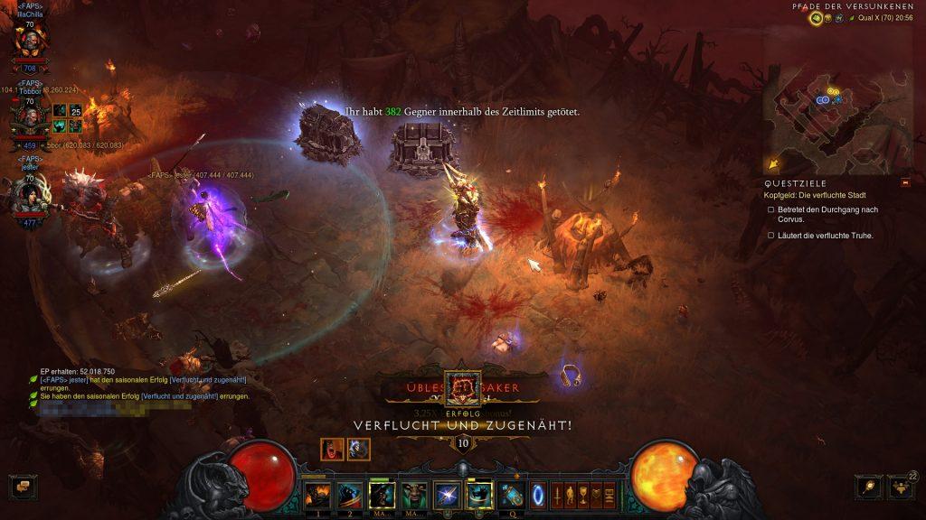 Diablo 3 Verflucht und Zugenäht geschafft