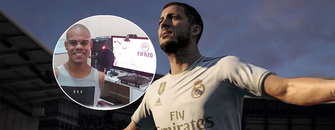 Twitch-Streamer ist erfolgreich in FIFA 20, obwohl er keine Hände hat