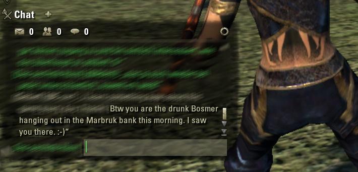 ESO Chat-Gespräch betrunkener Bosmer
