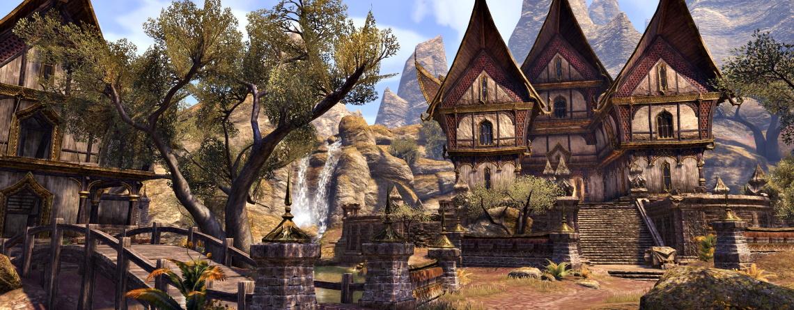 Spieler zeigt prunkvolles Haus im MMORPG ESO, in das er so viel gesteckt hat