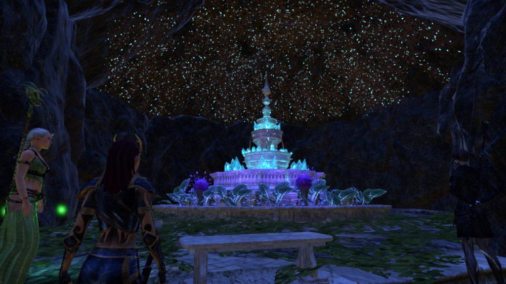 ESO Housing leuchtender Brunnen