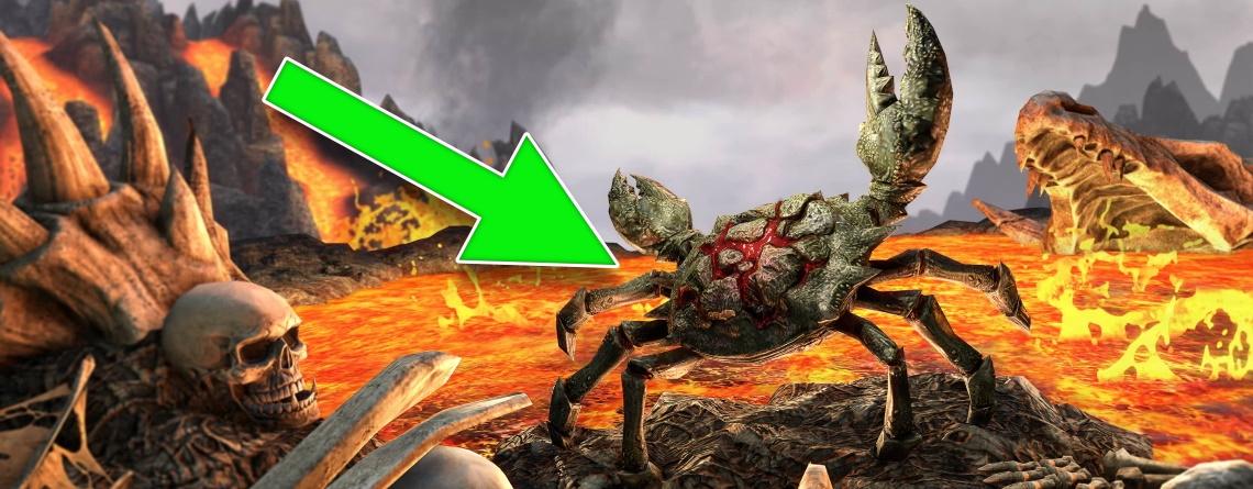 In ESO gab's eine Killer-Krabbe direkt aus Doom Eternal als Pet