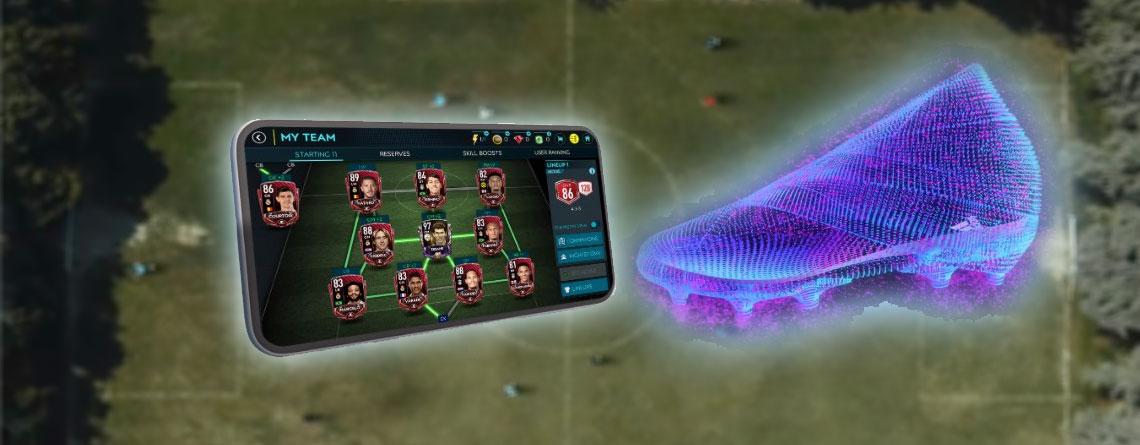In FIFA Mobile verbessert ihr euer Team, wenn ihr wirklich Fußball spielt – mit High-Tech-Schuh