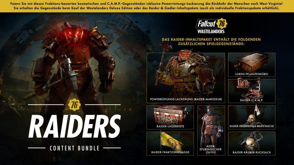 Fallout76-Wastelanders Raider Paket