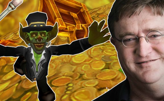 Gabe Newell Gold Farmer WoW titel 1140x445