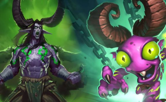 Hearthstone Illidan Demon Hunter Murloc title 1140x445